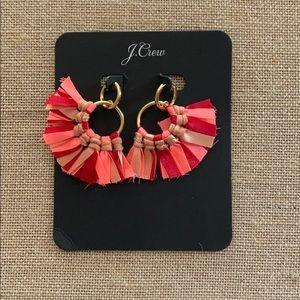 J. Crew Fabric Fan Earrings